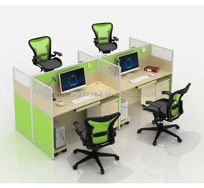 European Style Office Desk, Wooden Office Table, Modular Office Furniture (C029-HGM-2003-4)