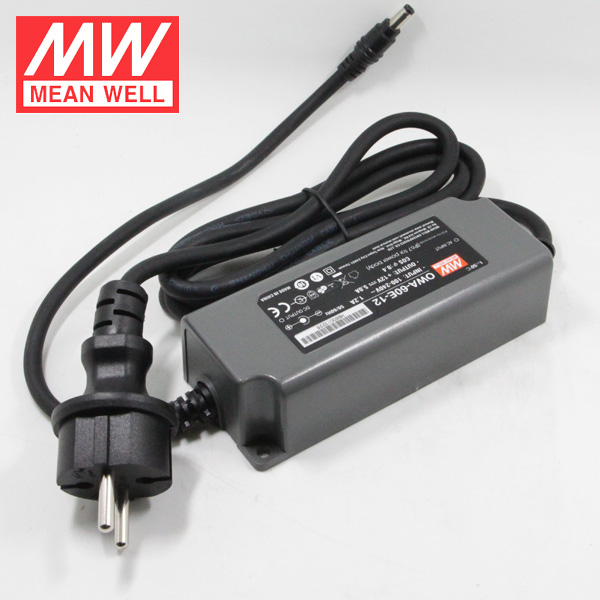 60W 30V 2A Ahead AC Adaptor IP67 Mean Well Moistureproof Switching Power Supply OWA-60E-30