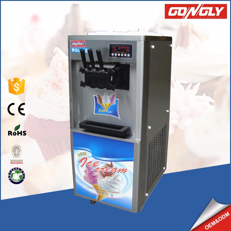 Jiangmen Gongly factory A22 Panasonic compressor 220V low noice yogurt ice cream making machine price
