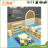 Kids Wooden Reading classroom Preschool tables and chairs furniture Naural Series
