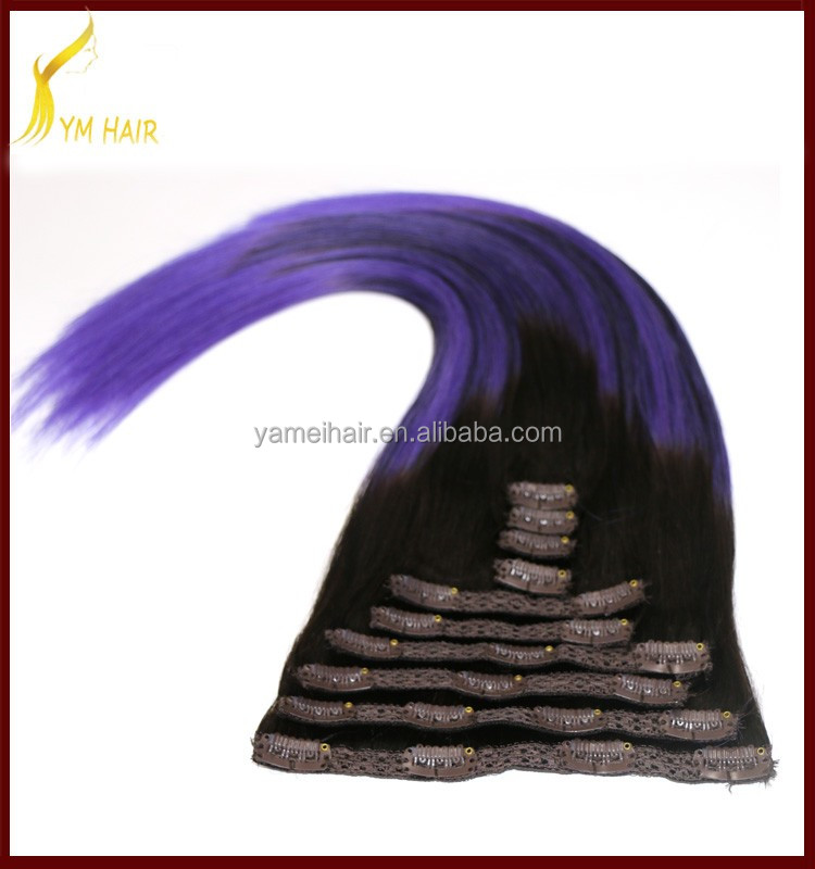 Wholesale 100% real unprocessed virgin human hair 24 inch 240 grams remy clip in hair extensions