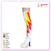 wholesale no lace platform high heel over knee high American women sexy witnter stretch PU boots
