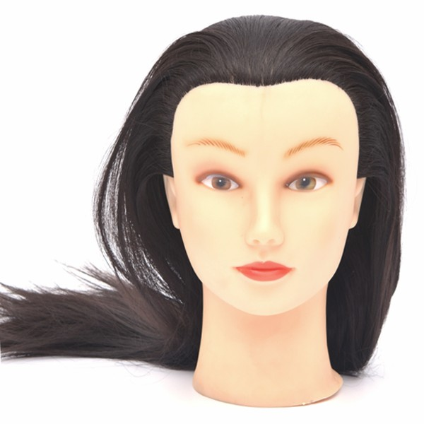 Wholesale mannequin head with human hair hair model head head dolls for hairdressers