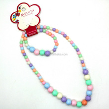 Latest design saudi jewelry bead necklace for girl