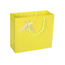 Manufactory printing wholesale yellow color paper bag