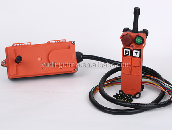 F21-2D promotional long range 2ch rf transmitter and receiver,crane pendant control