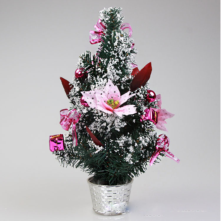 60cm Purple mini decorated live christmas trees with Competitive price