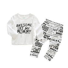 2017 Europe and the United States spring and autumn spanish baby clothes set newborn baby clothing