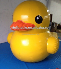 China inflatable advertising yellow duck, inflatable water floating yellow duck