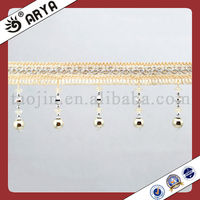 Gold Metalic Curtain Decoration Trim Fringes Western Home Decoration