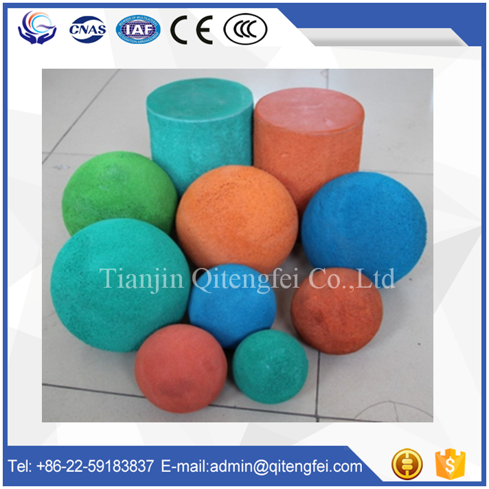 XCMG concrete pump rubber foam cleaning sponge balls, tubing cleaning ball
