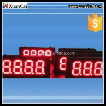 High contract ,operated easily,18 inch ,Led ,outdoor waterproof gas station petrol display/sign