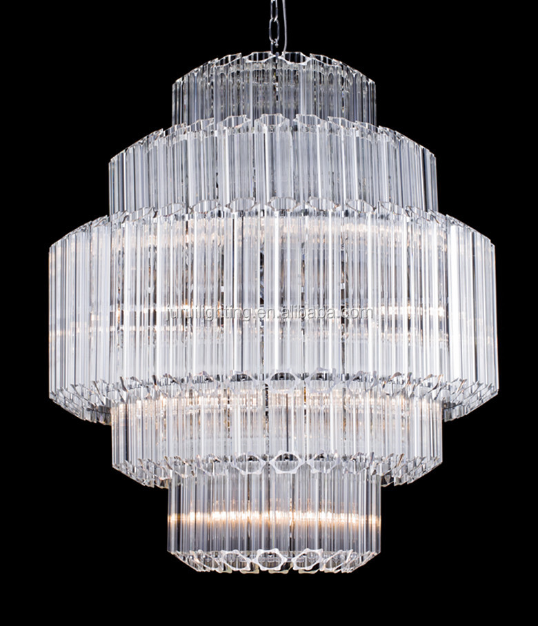 Factory popular design contemporary clear crystal round chandelier pendant lighting for home hotel