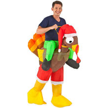 new model Inflatable funny costumes Rider Turkey Adult Costume QAMC-8542