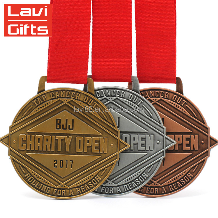Hot Sale Custom Gold Silver Copper Bronze Medal Metal Medals