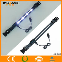 2013 hot sell Bright flashing LED USB dog nylon collars with soft handle made in Dongguan / CE and ROHS are approval