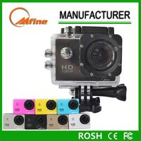 Professional 2.0 inch screen full hd 1080p go pro sports camera waterproof 30m