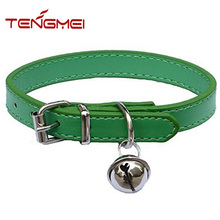 Fashion leather pet collars for cats, puppies,adjustable dog collar bulk from china