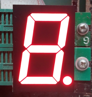 high quality indoor red color 7 segment single digit led display