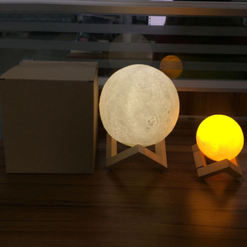Low Price Led Moon Night Light 3D Moon Lamp As Christmas Gift