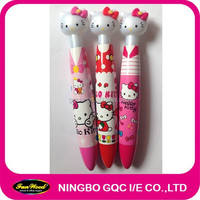 Novelty plastic ballpen,Cartoon shape clip top,customized pen