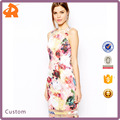 hot sale floral fashion elegant prom dress summer new design bodycon dress, China manufacturer customized prom dress