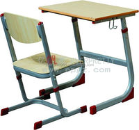 Cheap Adjustable School Furniture Metal Frame Desk and Chair Particle Board Study Table