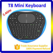 High Quality Colorful Silicone LED Backlight 2.4G Keyboard with Touchpad