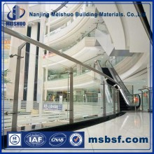 Stainless steel glass balustrade channel system