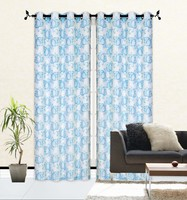 1PC POLYESTER EMB ORGANZA WITH LINER IN GROMMETS WINDOW CURTAINS