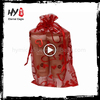 Fashion style nice pattern organza gift bags made in China