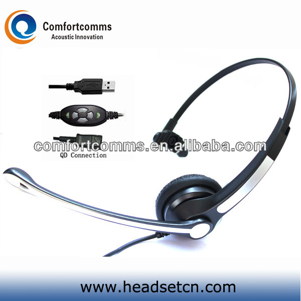 Popular factory OEM customized usb microphones headset for call center HSM-900FPQDUSBC