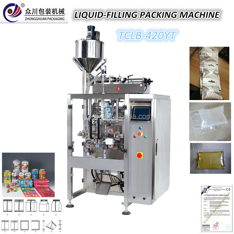 Factory offer <strong>oil</strong> bag packing machine liquid water pouch filling packing machine(ZC Model)