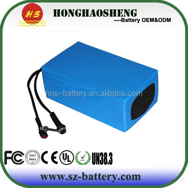 Good quality rechargeable 36v 12ah li-ion battery pack for e bike
