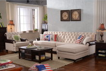 Fabric Sofa set Solid Wood Frame Leisure Design Living Room Furniture