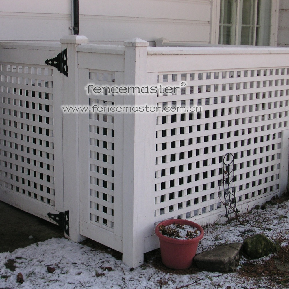 Fencemaster pvc lattice air conditioner fence