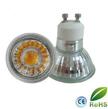 with CE RoHS certificate GU10 cob glass led lamp 5W led spotlight