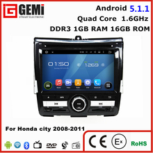 Cheap price car dvd gps radio player for honda city 2008 2009 2010 2011 with rear camera