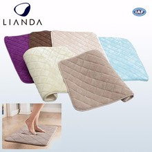 PVC fabric plush fabric anti slip foot bath mat with washable cover with Cool Ventilation