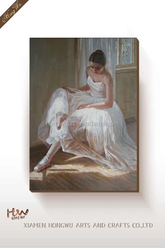 Classic Beautiful Woman Modern Sex Ballerina Dancing Girl Oil Paintings Art on Canvas