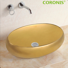 Hot sales high quality matt color copper round circular wash gold basin