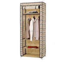 Hot Sale New Design Canvas Foldable Bedroom Wardrobe