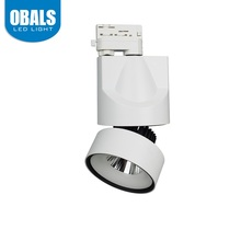 White Housing 220V 100LM/W 20W 3 Phase 2 Wires Dimmable LED Track Lighting