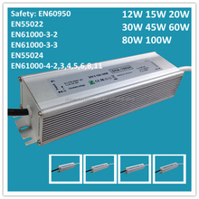 High quality meanwell 100w waterproof led driver ip67 Level, waterproof power supply 230v 220v ac 24v 12v dc