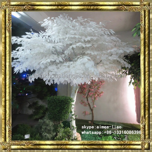 Q120813 ornamental foliage plants artificial white birch trees decoration white branch tree