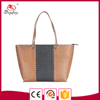 MK740 Alibaba Best Seller Handbag Couple Color Magazine Lady Purse Bag
