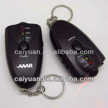 Key ring alcohol breathalyzer tester