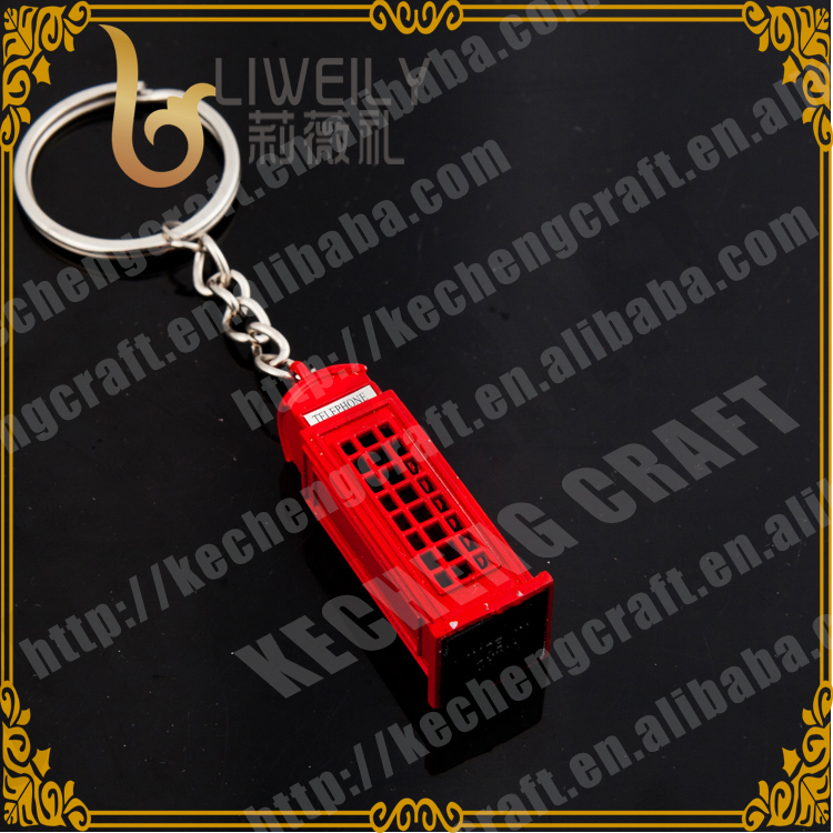 Diecast Metal Telephone Box Keyring London souvenir promotional gift Keyring