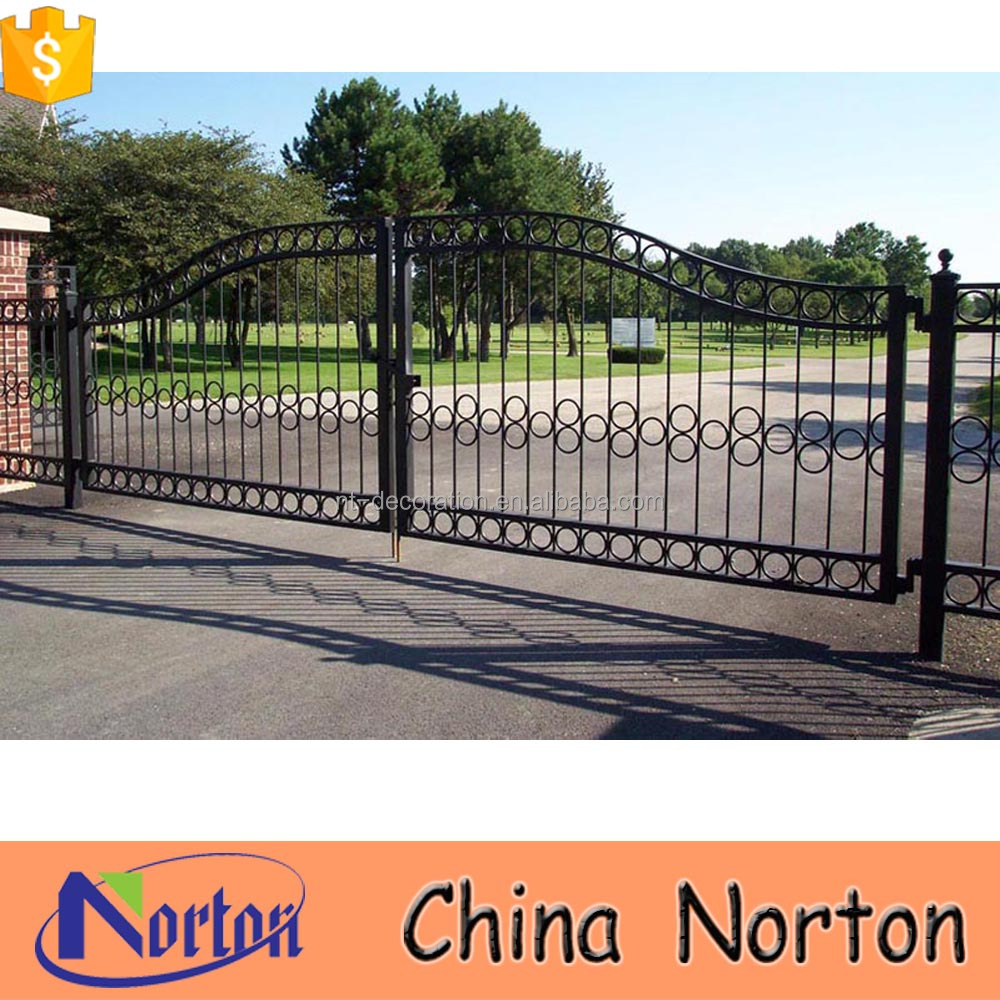 fancy sliding gates cast iron antique gates wrought iron gate ornaments NTIRG-341X