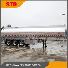 44000 liters advanced mirror polishing aluminum fuel tanker trailer
